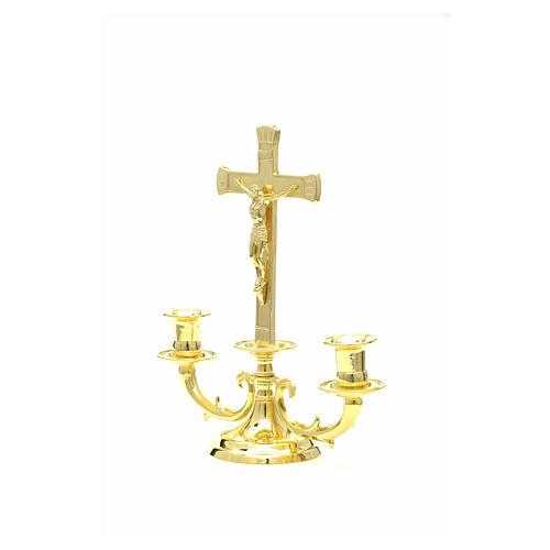 Chandelier avec croix pour autel 2