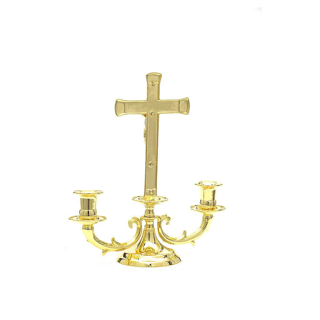 Candeliere con croce per altare 4