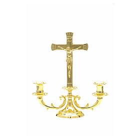 Candeliere con croce per altare s6