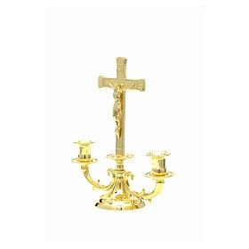 Candeliere con croce per altare s7