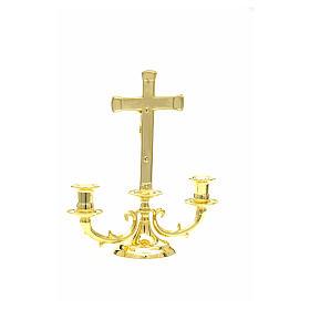 Candeliere con croce per altare s8