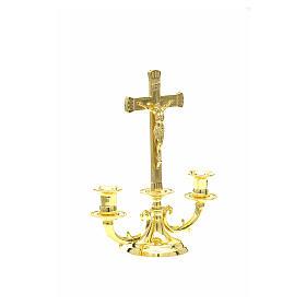 Candeliere con croce per altare s9