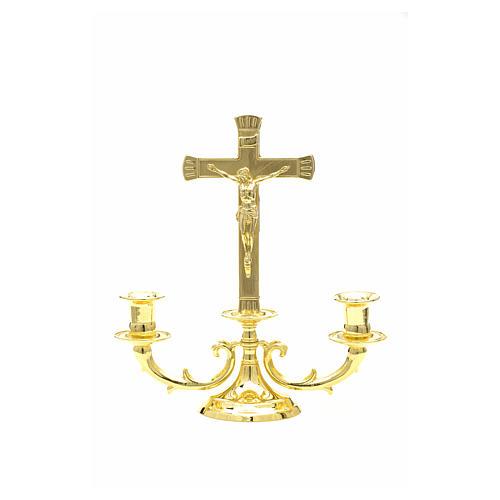 Candeliere con croce per altare 6