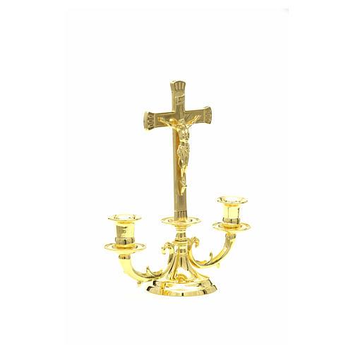 Candeliere con croce per altare 9