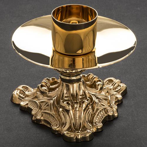Croce da mensa e candelieri ottone 38x19 cm 9