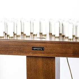Candeliere votivo elettrico blindato legno tinto noce s2