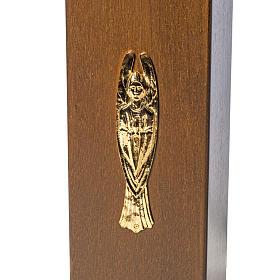 Candeliere votivo elettrico blindato legno tinto noce s3