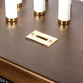 Candeliere votivo elettrico blindato legno tinto noce s4