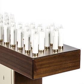 Candeliere votivo elettrico blindato legno tinto noce s7