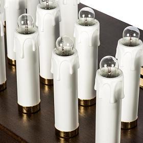 Candeliere votivo elettrico blindato legno tinto noce s8