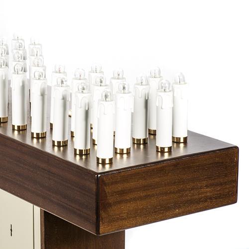 Candeliere votivo elettrico blindato legno tinto noce 7