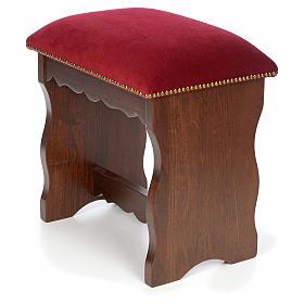 Sanctuary stool in beech wood with velvet s5