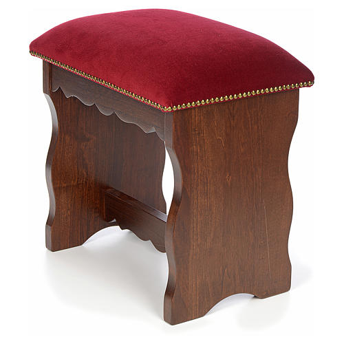 Sanctuary stool in beech wood with velvet 6