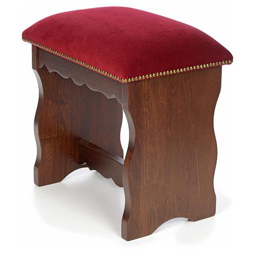 Sanctuary stool in beech wood with velvet 5
