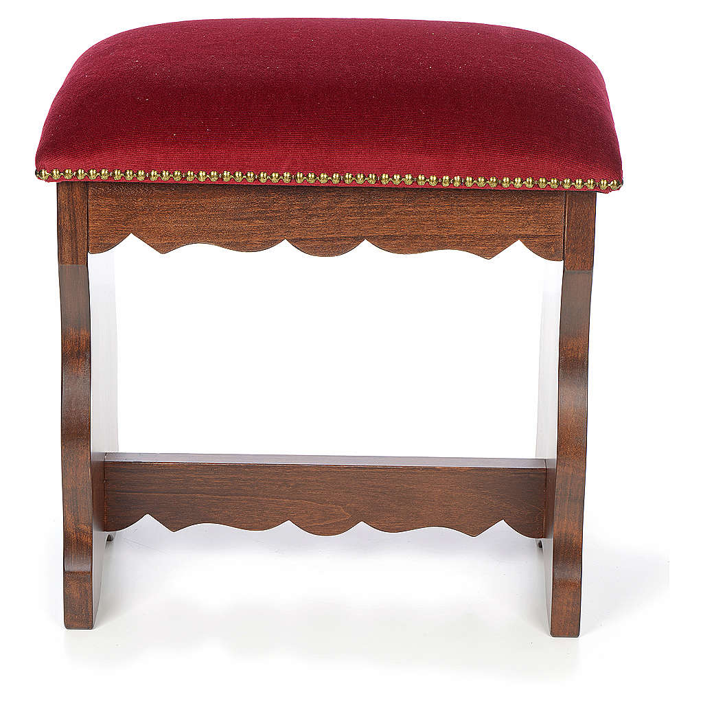 Sanctuary stool in beech wood with velvet 4