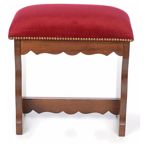 Sanctuary stool in beech wood with velvet 1