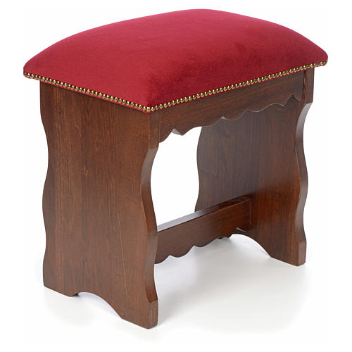 Sanctuary stool in beech wood with velvet 3