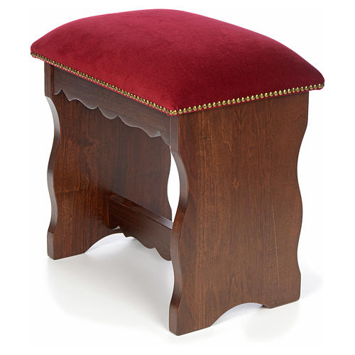 Sanctuary stool in beech wood with velvet 5