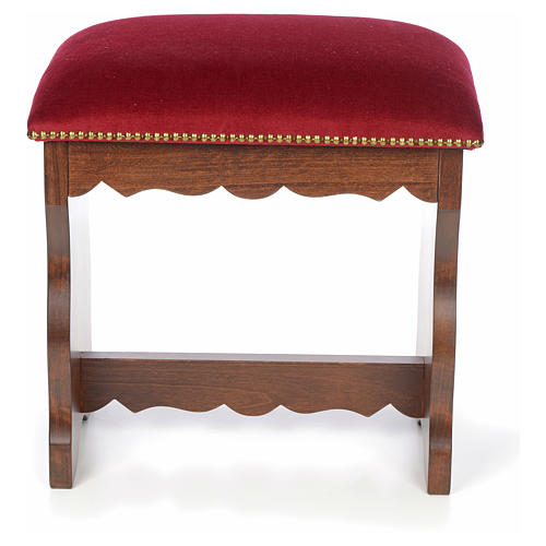 Sanctuary stool in beech wood with velvet 7