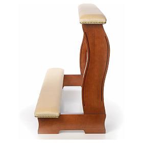 Reclinatorio de esposos madera nogal terciopelo marfil s3