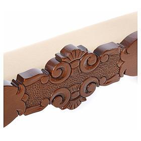 Reclinatorio de esposos madera nogal terciopelo marfil s6