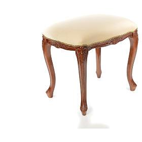 Sanctuary stool with white velvet s9
