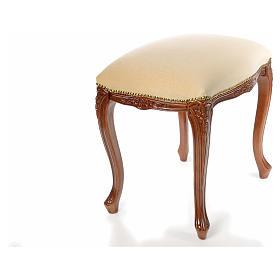 Sanctuary stool with white velvet s10