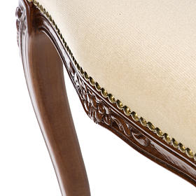 Sanctuary stool with white velvet s12