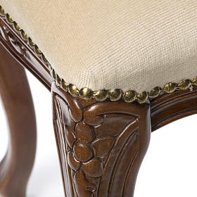 Sanctuary stool with white velvet s5
