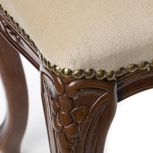 Sanctuary stool with white velvet 11
