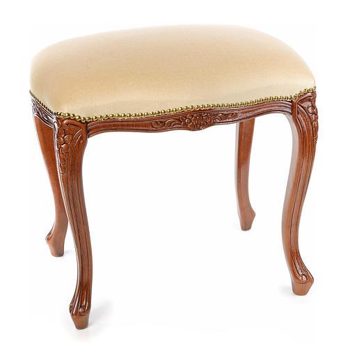 Sanctuary stool with white velvet 1