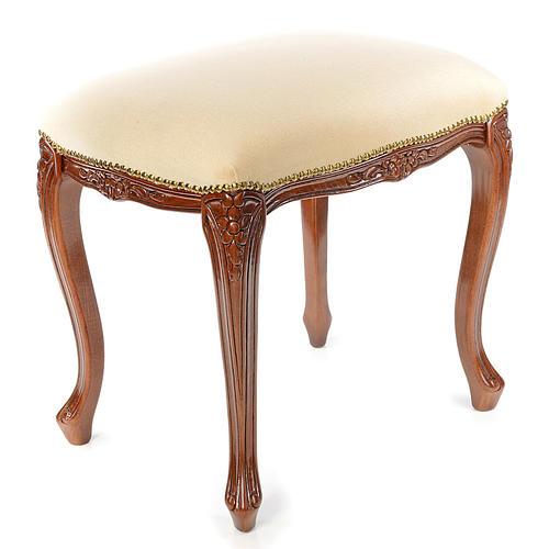 Sanctuary stool with white velvet 3