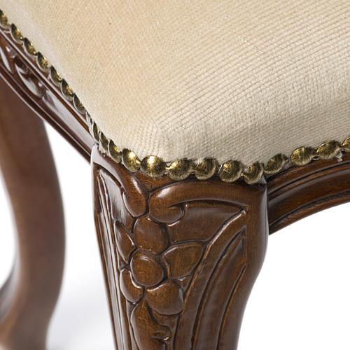 Sanctuary stool with white velvet 5