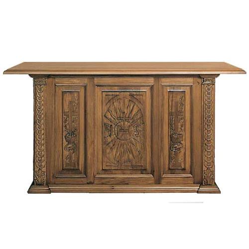 Altare in legno massello intagliato a mano 1