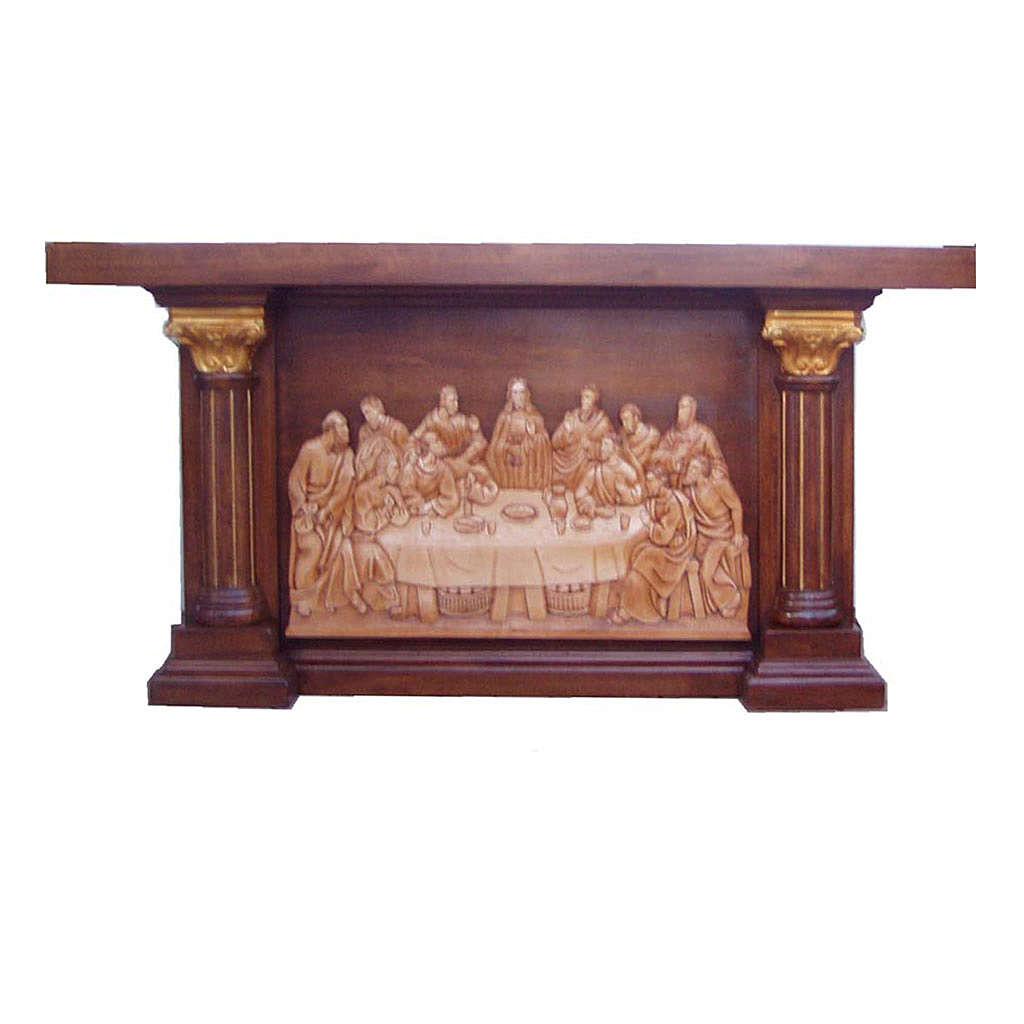 Altare in legno intagliato a mano immagine Ultima Cena 4