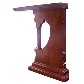 Altare legno massello stile gotico 200x89x98 stemma IHS s2