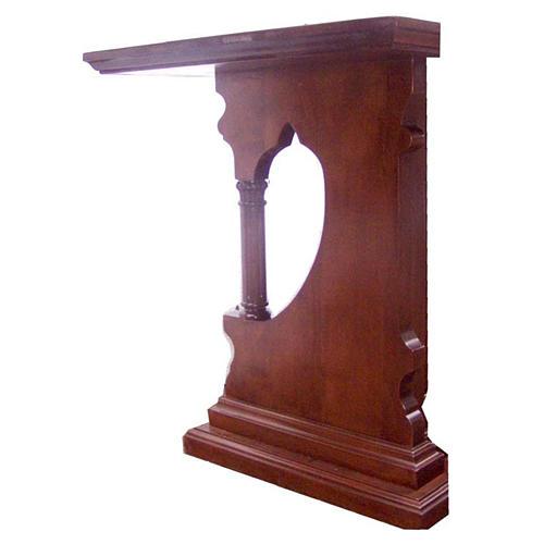 Altare legno massello stile gotico 200x89x98 stemma IHS 2
