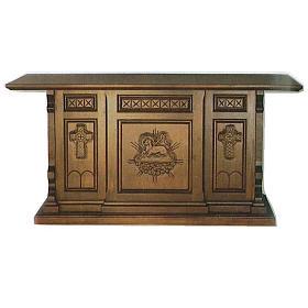 Altare legno stile gotico 200x89x98 Angello Immolato s1