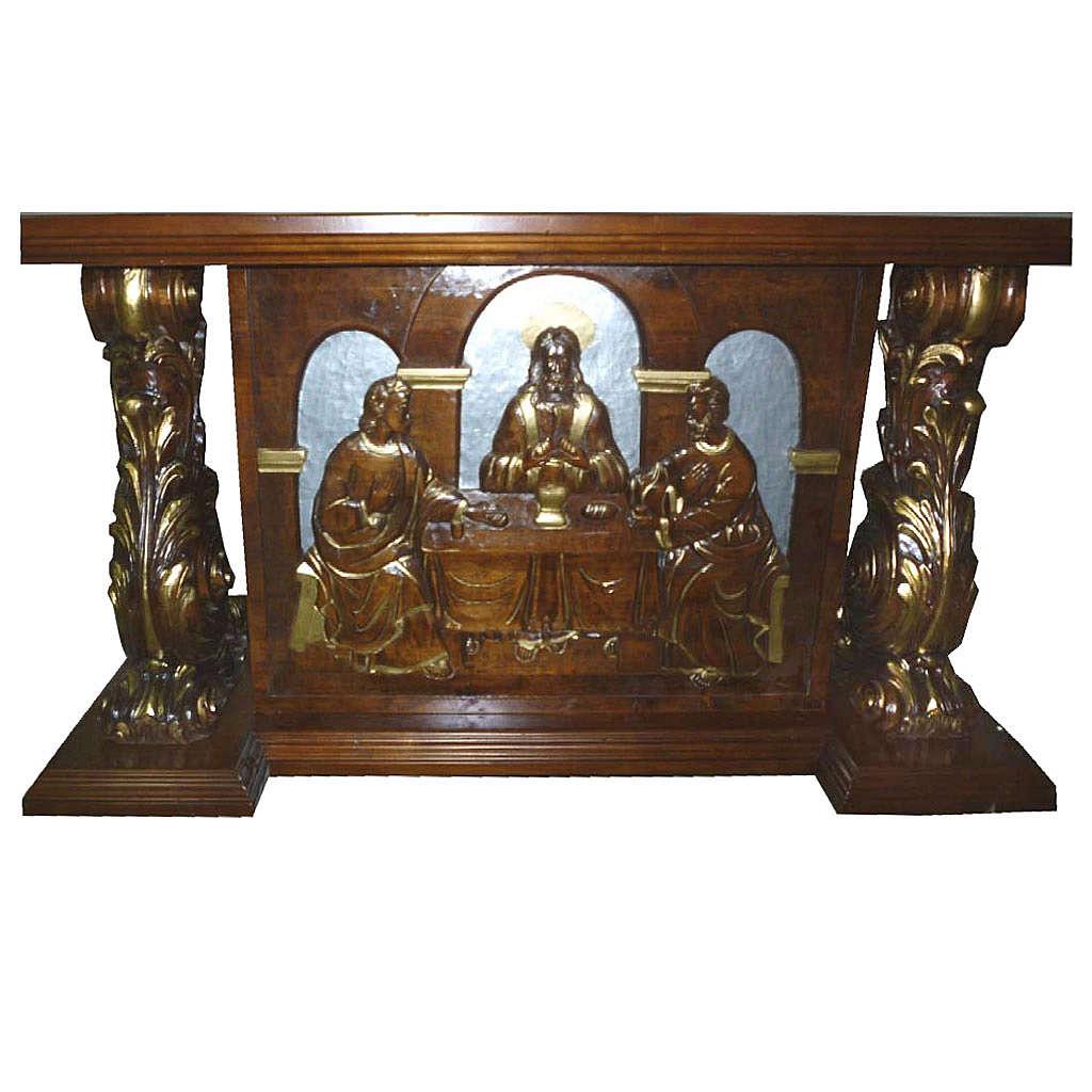 Altare in legno intagliato a mano 180x80x90 cm 4
