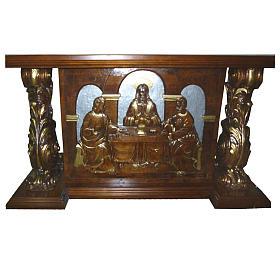Altare in legno intagliato a mano 180x80x90 cm s1