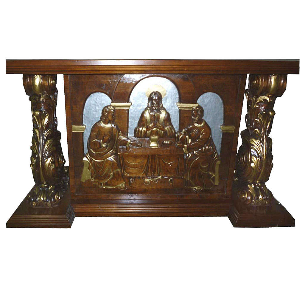 Altar, in hand carved wood, 180x80x90cm 4