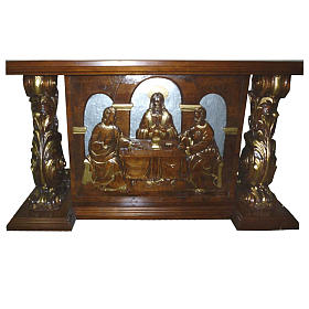 Altar, in hand carved wood, 180x80x90cm s1