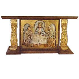 Autel en bois taillé main feuille d'or 180x80x90 cm s1