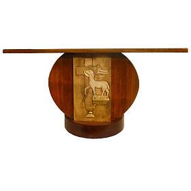 Autel en bois massif taillé main 180x80 cm s1