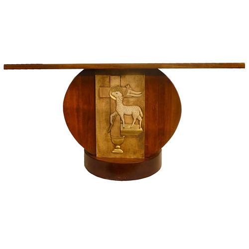 Autel en bois massif taillé main 180x80 cm 1