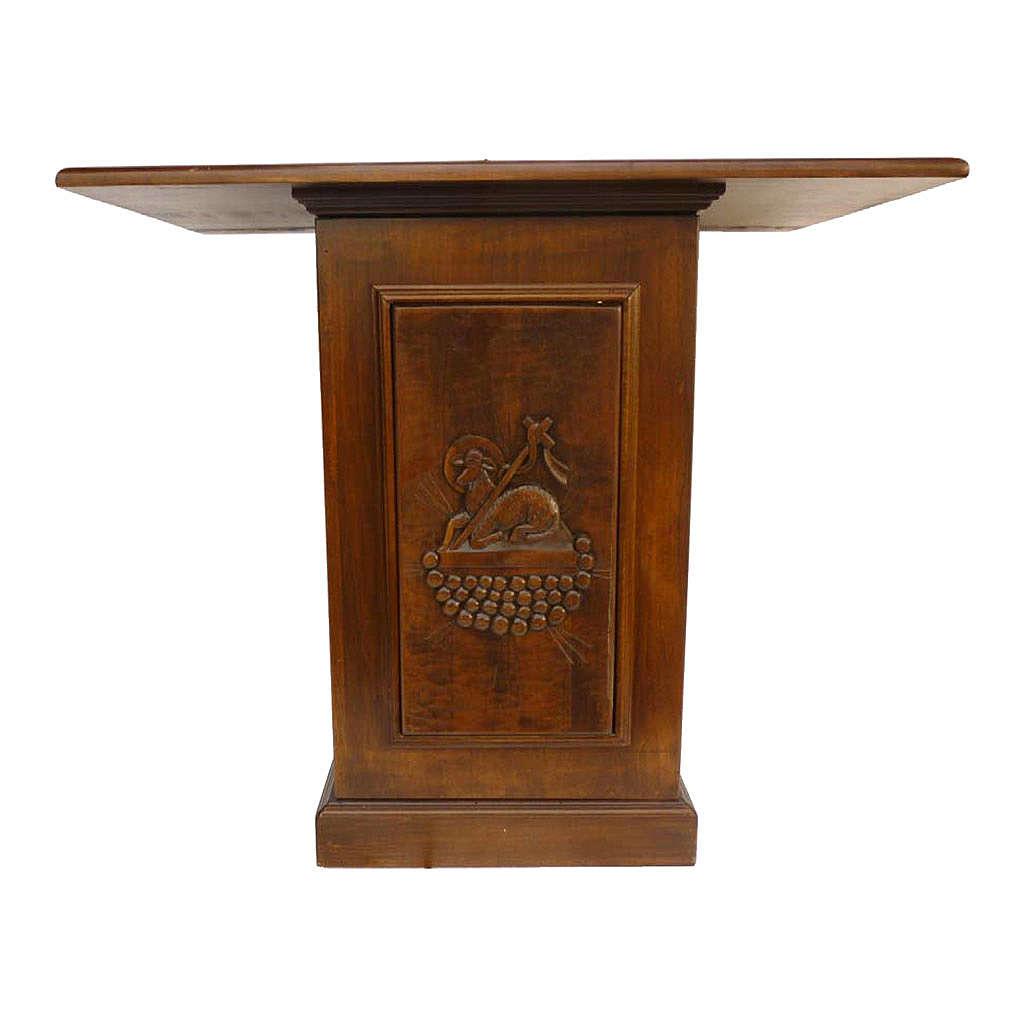 Altare in legno massello intaglio a mano 120x70 cm 4