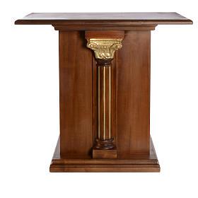 Altare intagliato in legno massiccio 110x65 cm s1