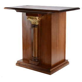 Altare intagliato in legno massiccio 110x65 cm s2