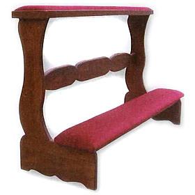 Prie-Dieu for weddings in wood 85x120x50cm s1