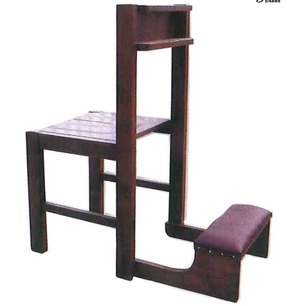 Chair with kneeling stool in wood, foldable 87x40x35 cm 4